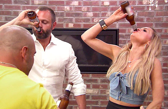 Joe Gorga, Evan Goldschneider, and Jackie Goldschneider on RHONJ (Bravo)