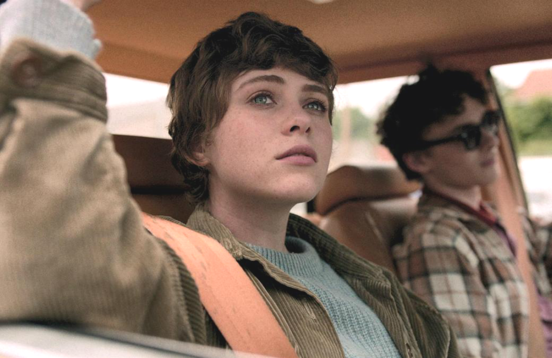 Sophia Lillis and Wyatt Oleff in I Am Not Okay With This. (Photo: Netflix)