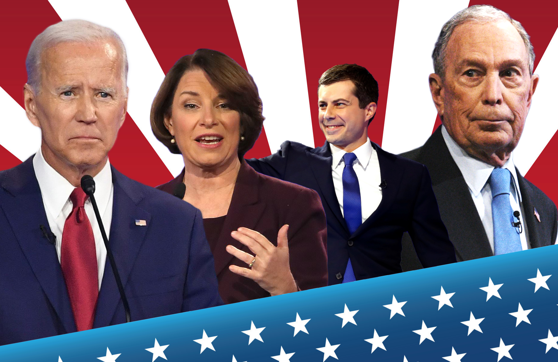 The leading candidates for the Democratic nomination (including Bernie Sanders, Elizabeth Warren and Tom Steyer, not pictured) will face off for their tenth debate tonight on CBS.