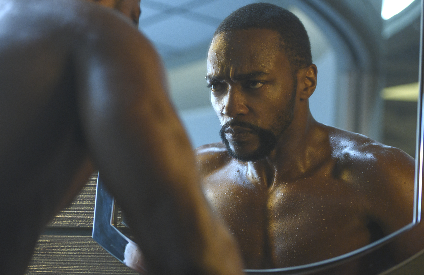 Anthony Mackie takes over as lead in Season 2 of Altered Carbon (Netflix).