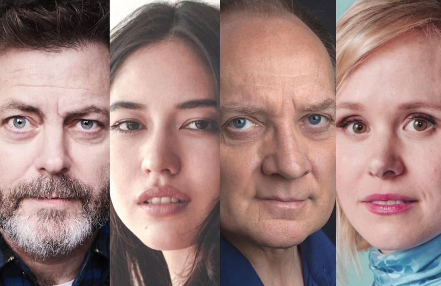 Nick Offerman, Sonoya Mizuno, Zach Grenier and Allison Pill are among those in the ensemble cast of FX on Hulu's Devs.