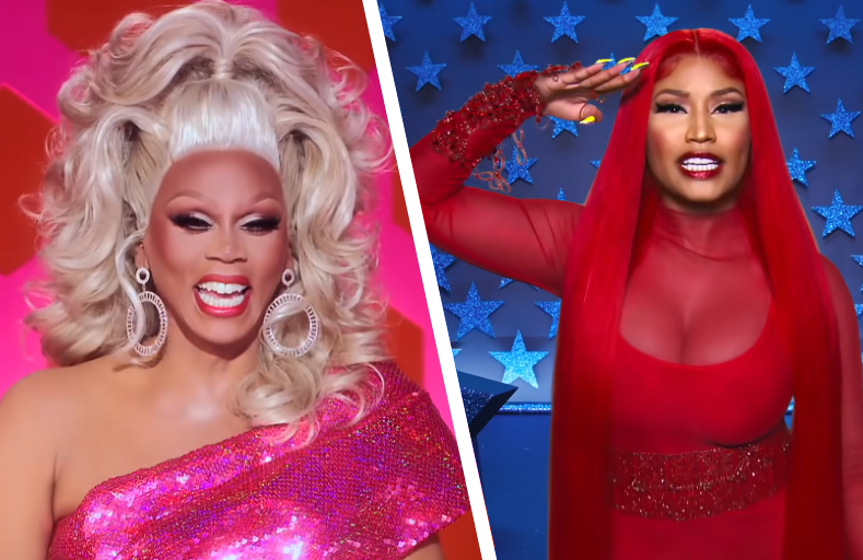 Ru welcomes special guest judge Nicki Minaj for tonight's Season 12 premiere of RuPaul's Drag Race. (VH1)