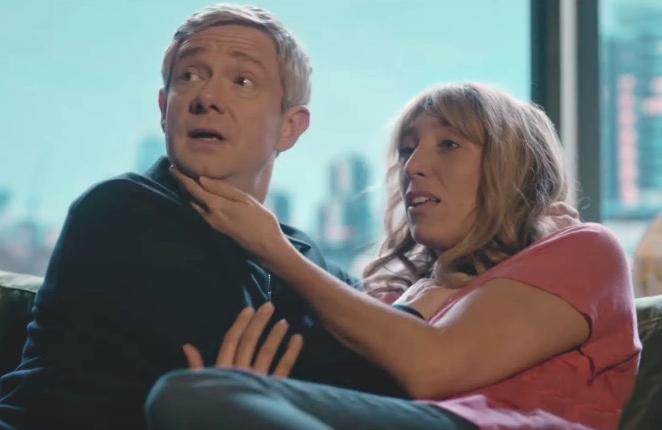 Martin Freeman and Daisy Haggard stars in Breeders (FX)
