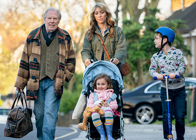 Michael McKean, Daily Haggard, Jayda Eyles and George Wakeman in a scene from Breeders (Photo: FX)