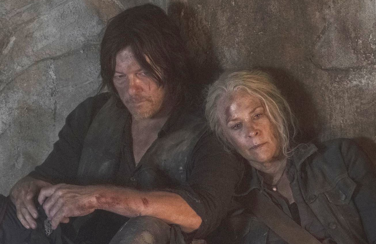 Norman Reedus and Melissa McBride in The Walking Dead. (AMC)