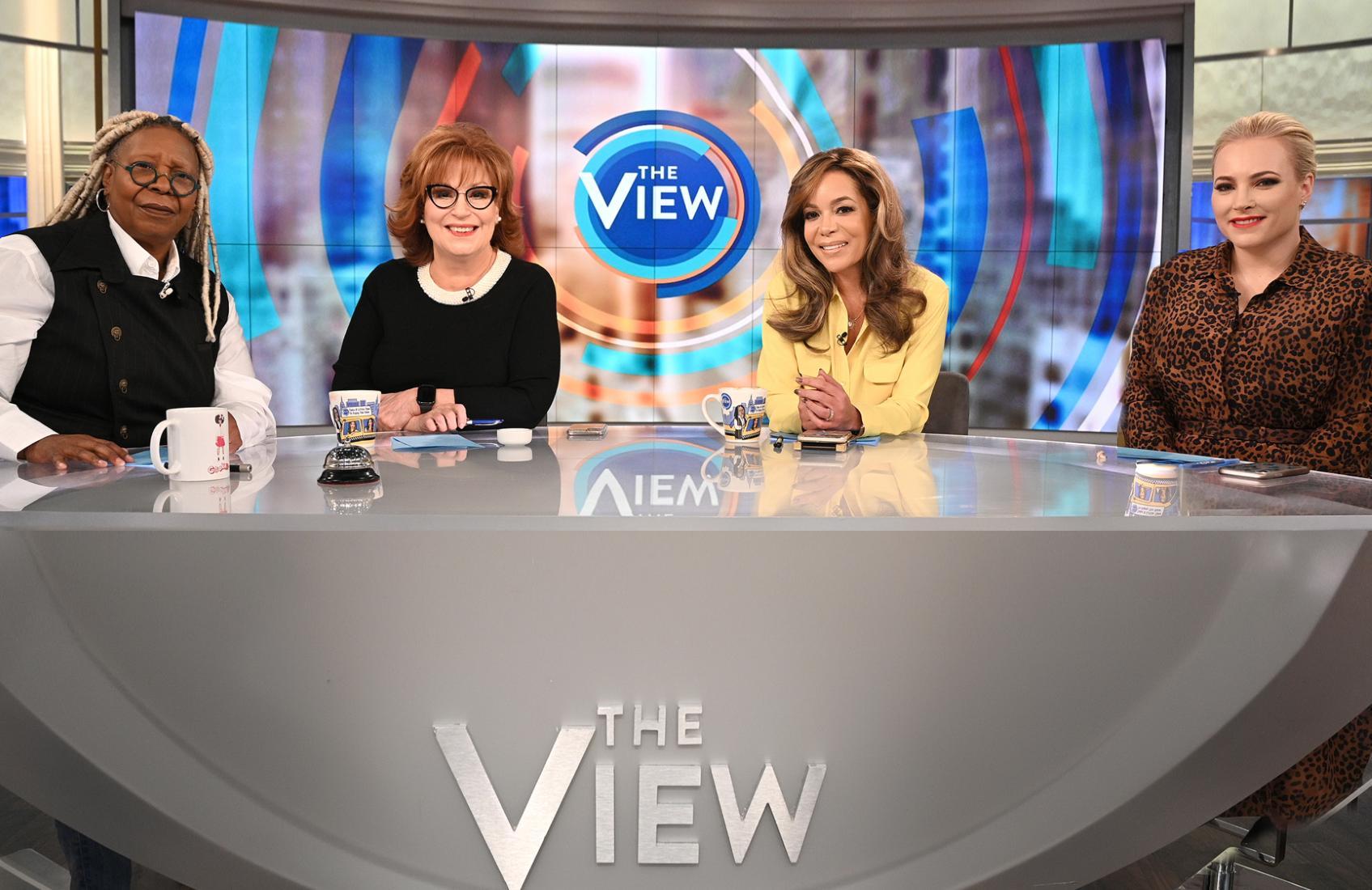 Whoopi Goldberg, Joy Behar, Sunny Hostin and Meghan McCain on The View. (ABC)