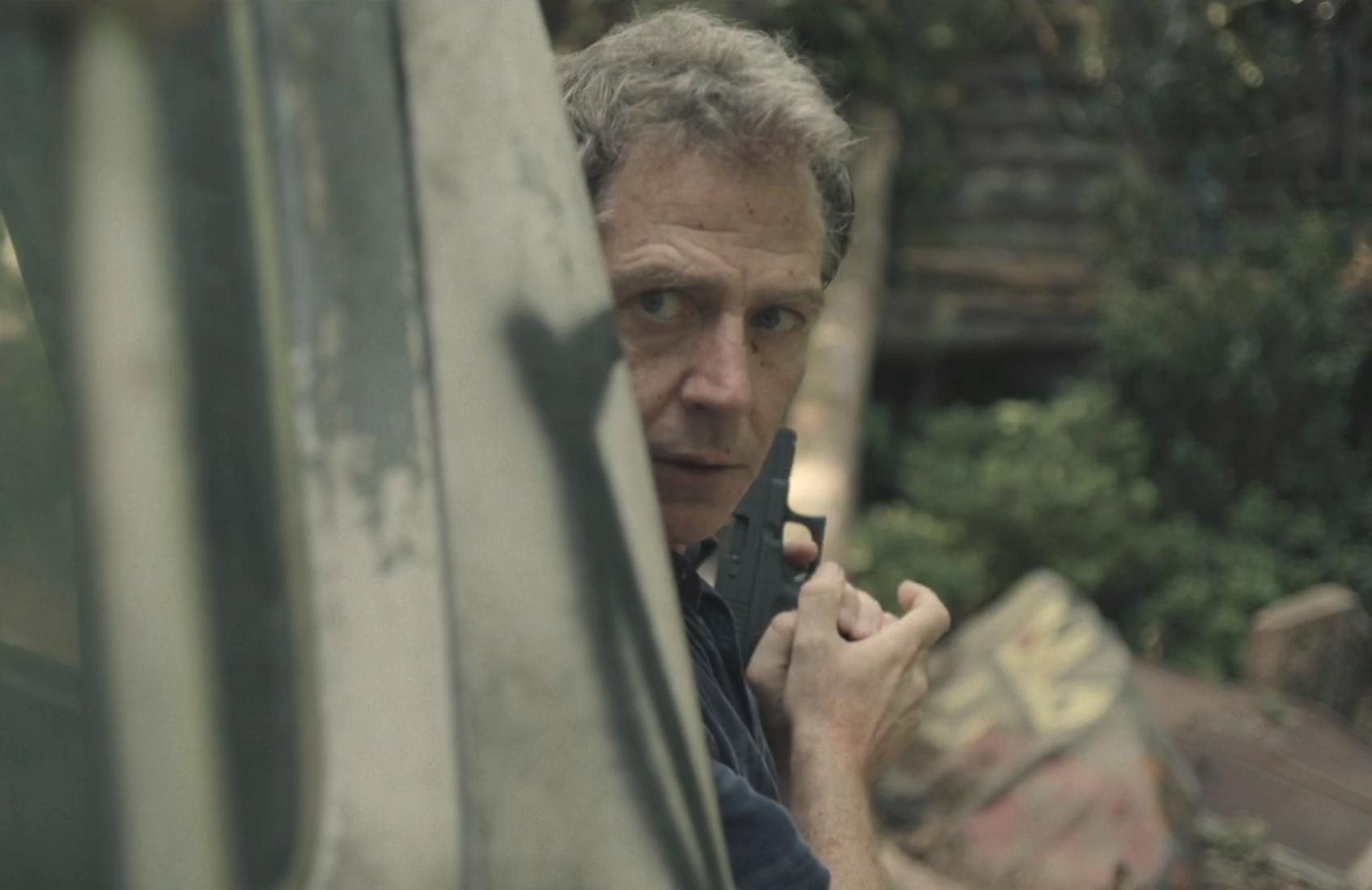 Ben Mendelsohn in a scene from Sunday's season finale of The Outsider. (HBO)