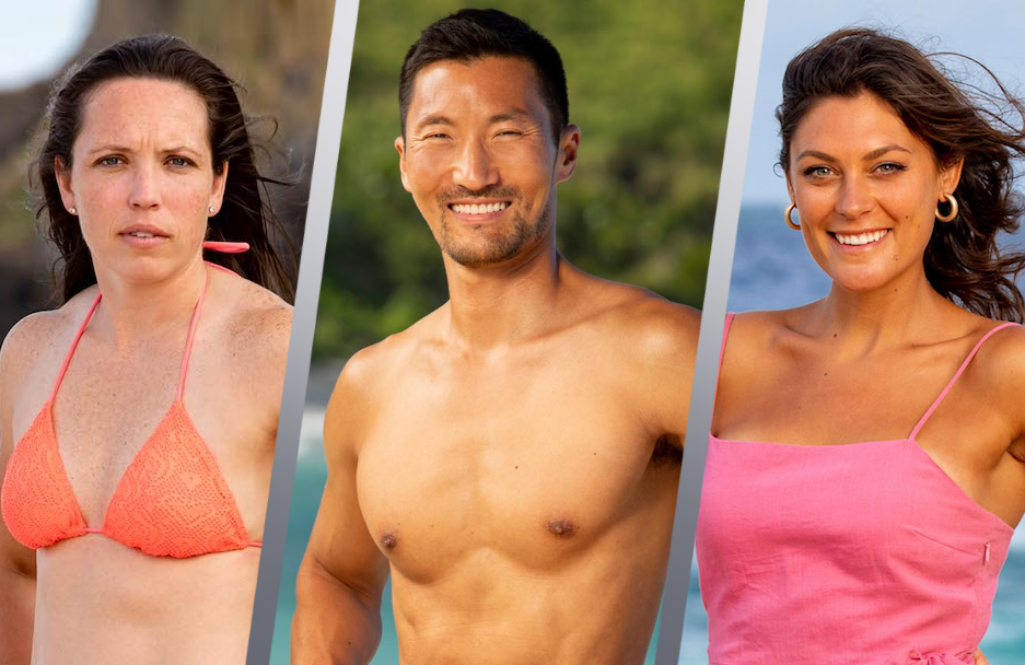 Sarah Lacina, Yul Kwon and Michele Fizgerald in Survivor: Winners at War. (CBS)