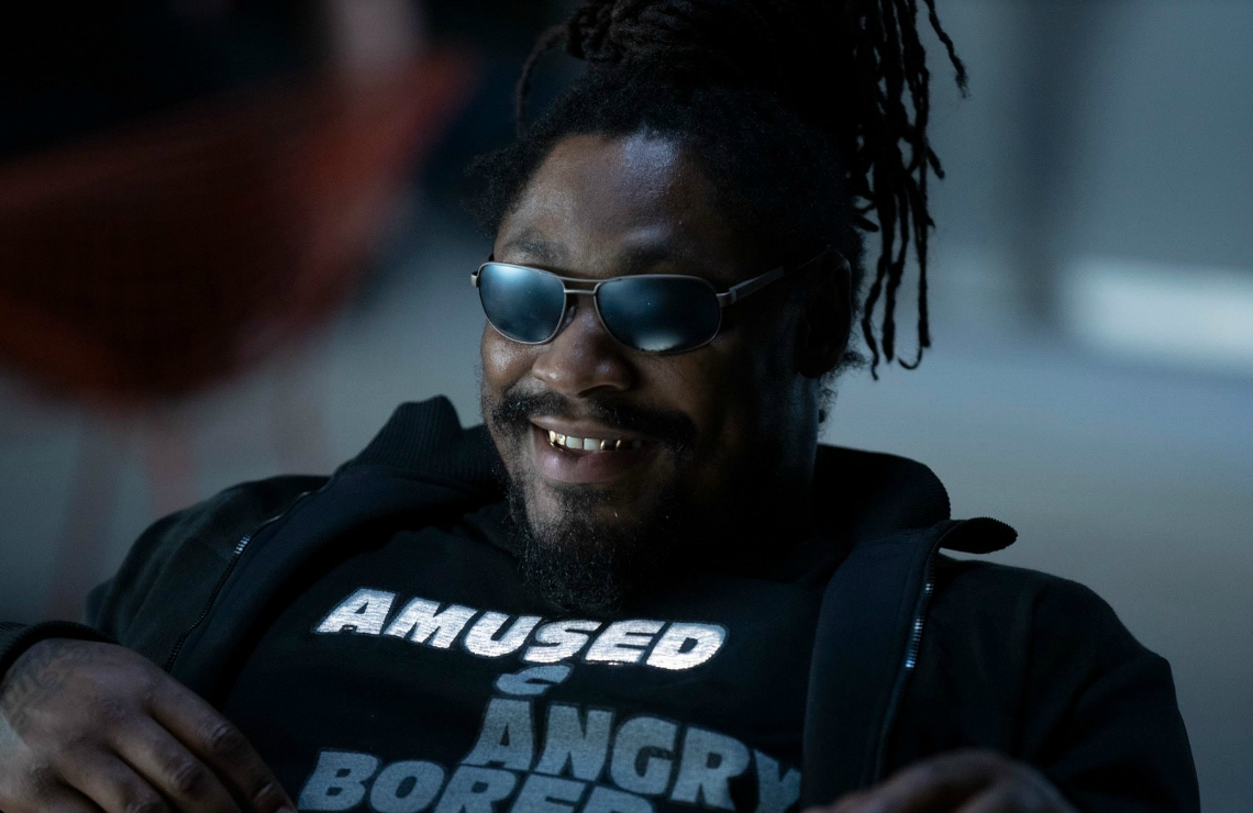 Marshawn Lynch in Westworld. (Photo: HBO)