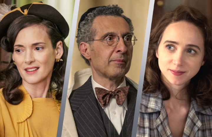 Winona Ryder, John Turturro and Zoe Kazan in The Plot Against America. (HBO)