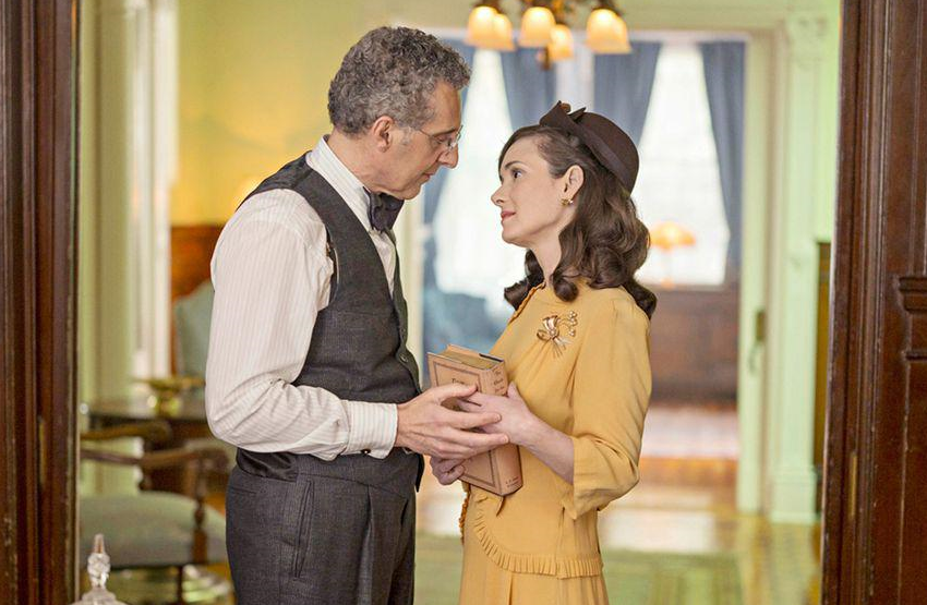 Winona Ryder as Evelyn Finkel and John Turturro as Rabbi Bengelsdorf in The Plot Against America. (Photo: Michele K. Short/HBO)