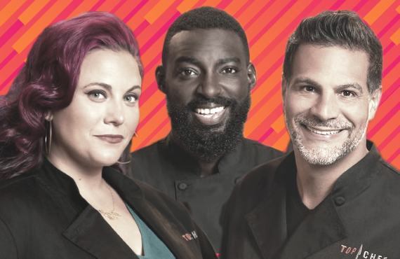 Karen Akunowicz, Eric Adjepong and Angelo Sosa are among those returning to the kitchen for Top Chef All-Stars L.A. (Bravo)