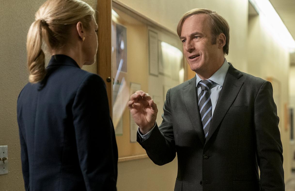 Rhea Seehorn and Bob Odenkirk in Better Call Saul. (AMC)