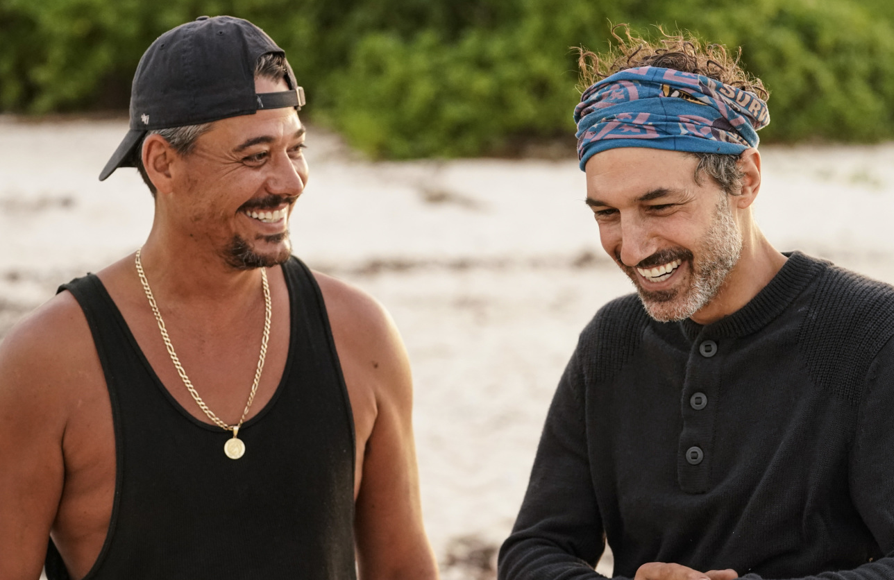 Rob Mariano and Ethan Zohn in Survivor: Winners at War. (CBS)