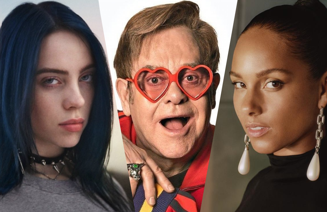 Billie Eilish and Alicai Keys are two of the artists set to perform from their homes Sunday Night on Fox's Elton John-hosted iHeart Living Room Concert.