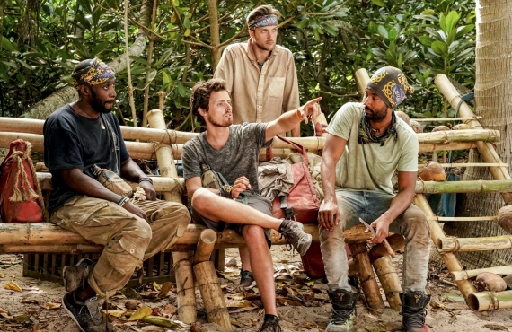 Jeremy Collins, Adam Klein, Nick Wilson and Wendell Holland in Survivor: Winners at War. (CBS)