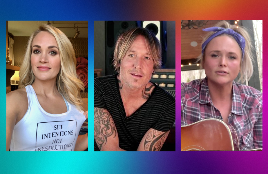 Carrie Underwood, Keith Urban and Miranda Lambert will be performing from home in ACM Presents: Our Country Sunday night on CBS.