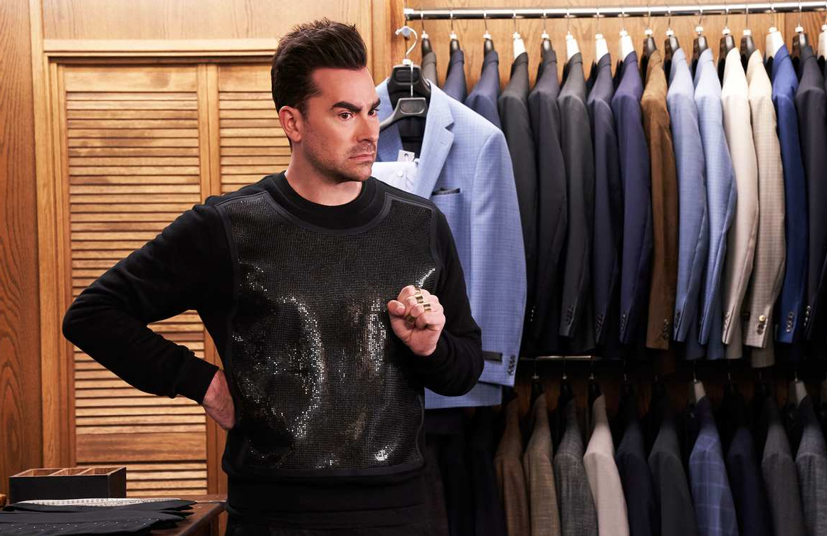Dan Levy in Schitt's Creek. (Pop TV/CBC)