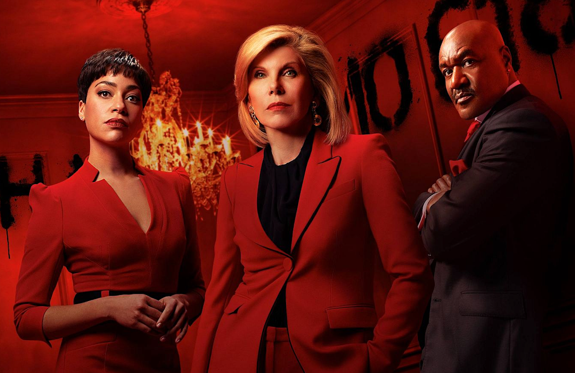 Cush Jumbo, Christine Baranski, and Delroy Lindo star in The Good Fight. (CBS All Access)