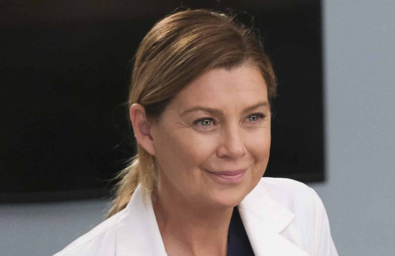 Ellen Pompeo in tonight's ersatz season finale of Grey's Anatomy. (Photo: ABC/Jessica Brooks)