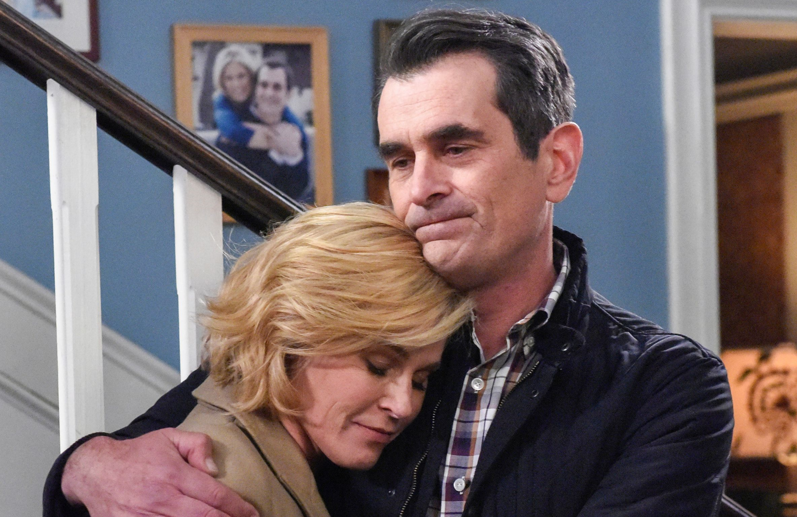 Julie Bowen and Ty Burrell in a scene from this week's Modern Family series finale. (ABC)