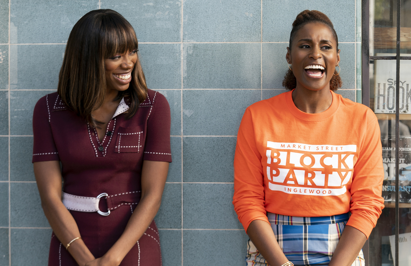 Yvonne Orji and Issa Rae in Insecure. (HBO)