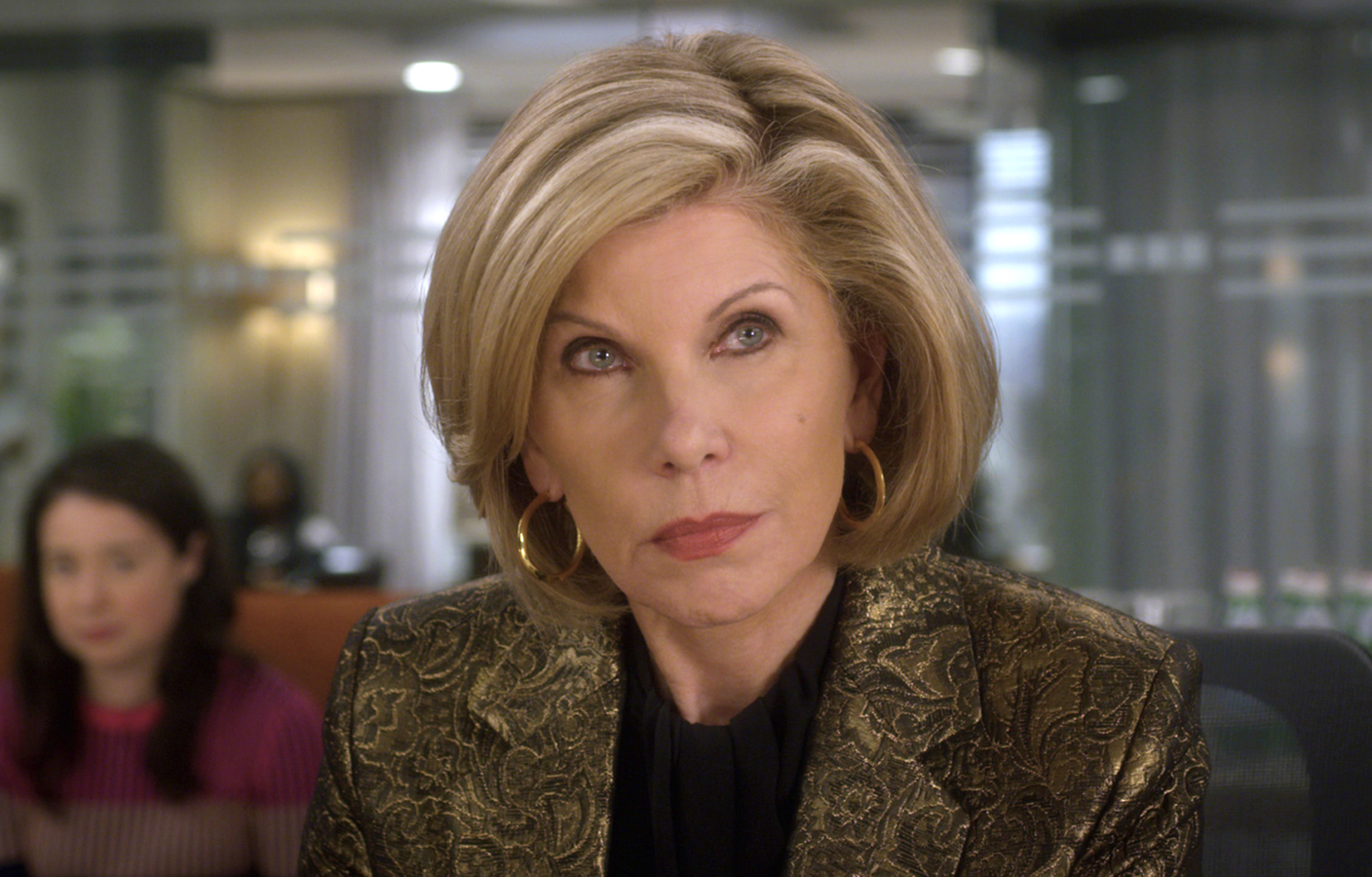 Christine Baranski in last week's Good Fight Season 4 premiere. (Photo: CBS All Access)