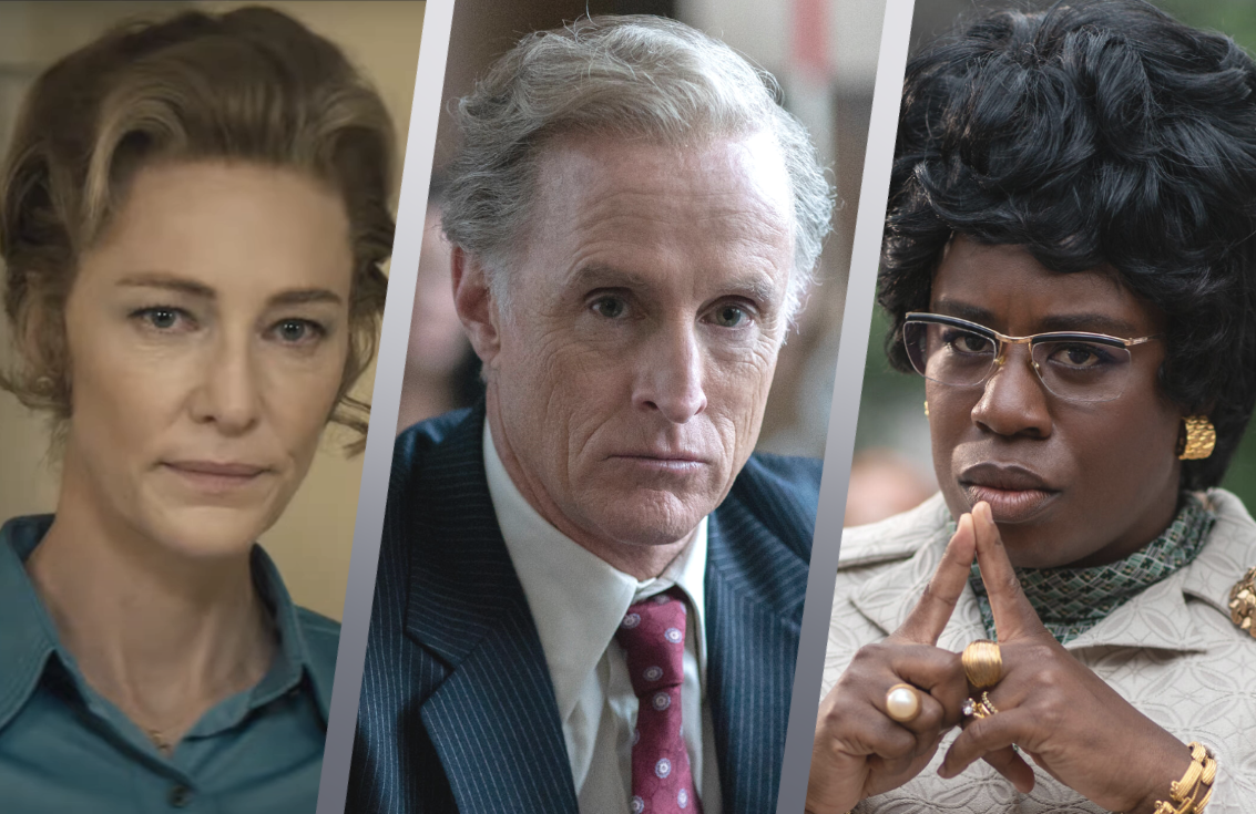 Cate Blanchett, John Slattery and Uzo Aduba in FX on Hulu's Mrs. America. (Hulu)