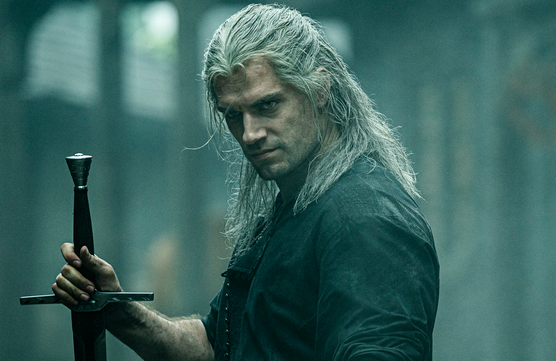 Henry Cavill in the TV adaptation of The Witcher. (Netflix)