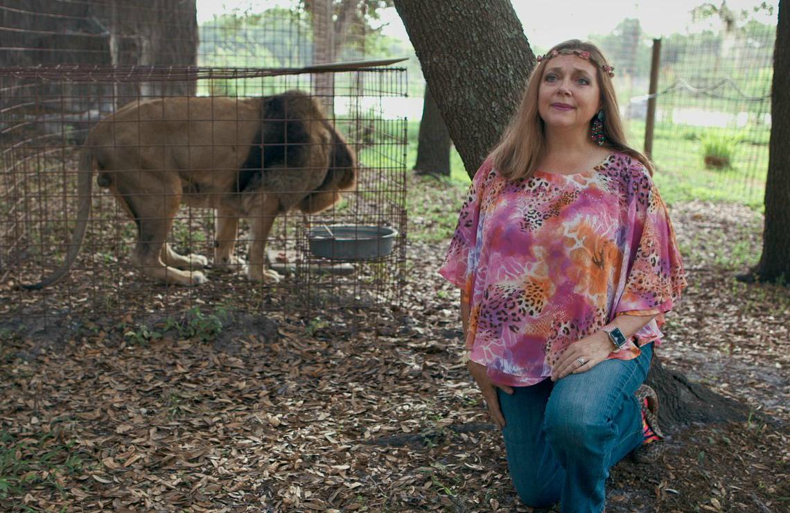 Carole Baskin in Tiger King: Murder, Mayhem and Madness (Netflix)