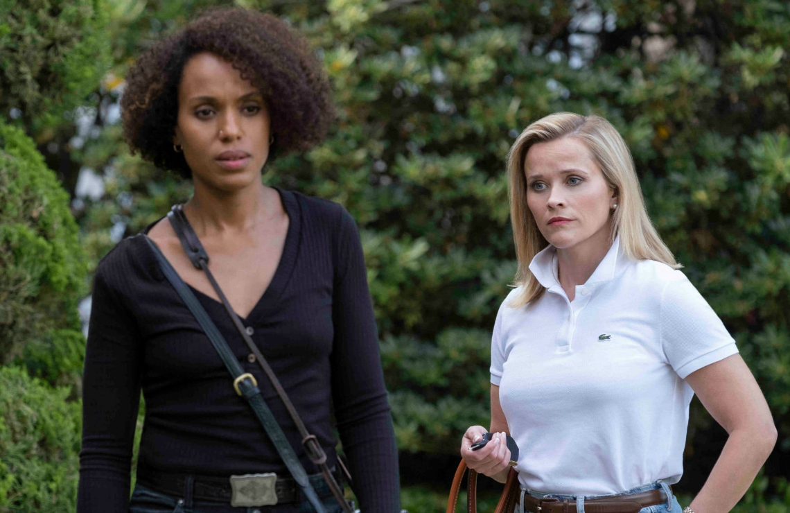 Kerry Washington and Reese Witherspoon in Little Fires Everywhere. (Hulu)