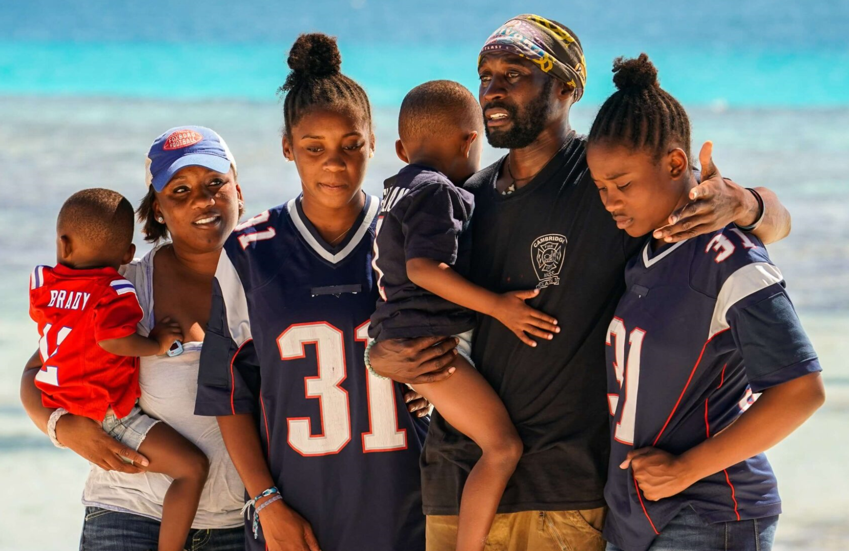 Jeremy Collins reunites with his family in this week's Survivor. (CBS)