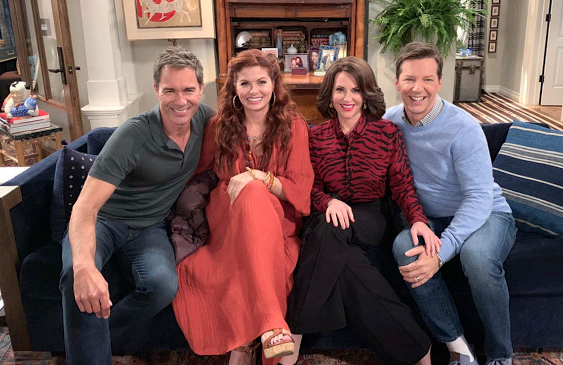 Eric McCormack, Debra Messing, Megan Mullally, and Sean Hayes in Will & Grace. (NBC)
