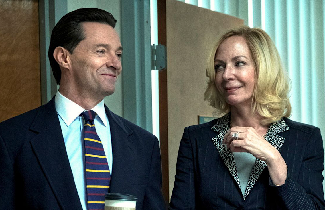 Hugh Jackman and Allison Janney in Bad Education. (HBO)