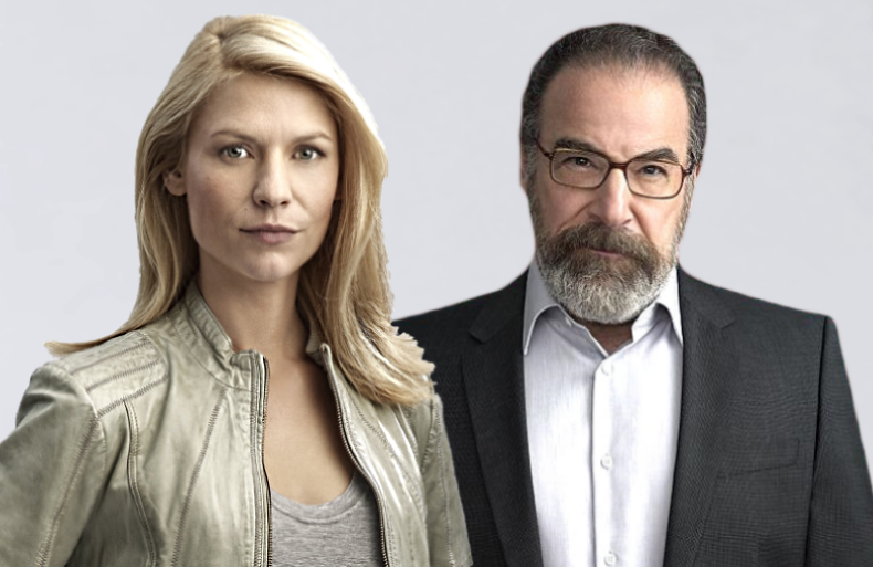 Claire Danes and Mandy Patinkin in Homeland. (Showtime)