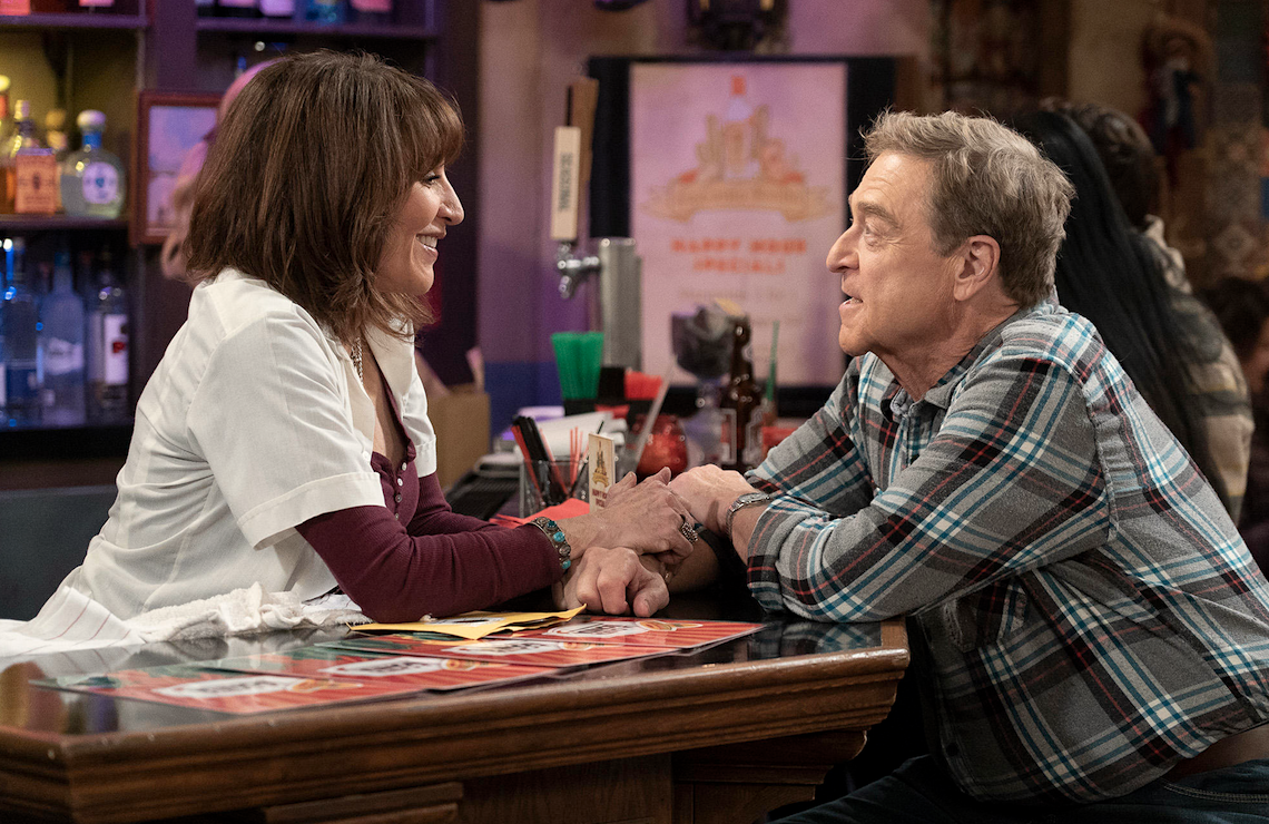 Katey Sagal and John Goodman on The Conners. (ABC)