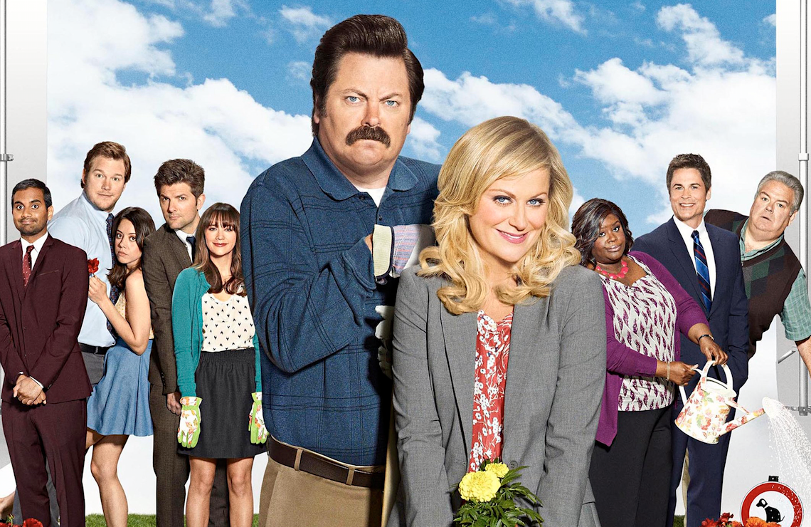 Aziz Ansari, Chris Pratt, Aubrey Plaza, Adam Scott, Rashida Jones, Nick Offerman, Amy Poehler, Retta, Rob Lowe, and Jim O'Heir reunite for A Parks and Recreation Special. (NBC)