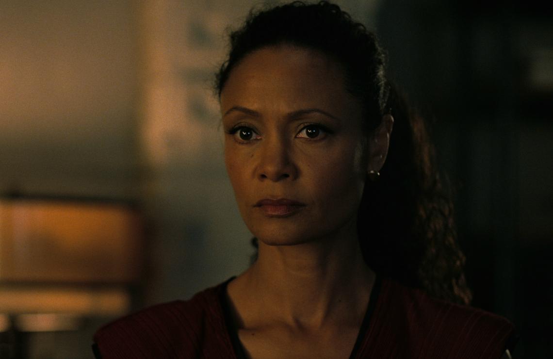 Thandie Newton in Westworld. (HBO)