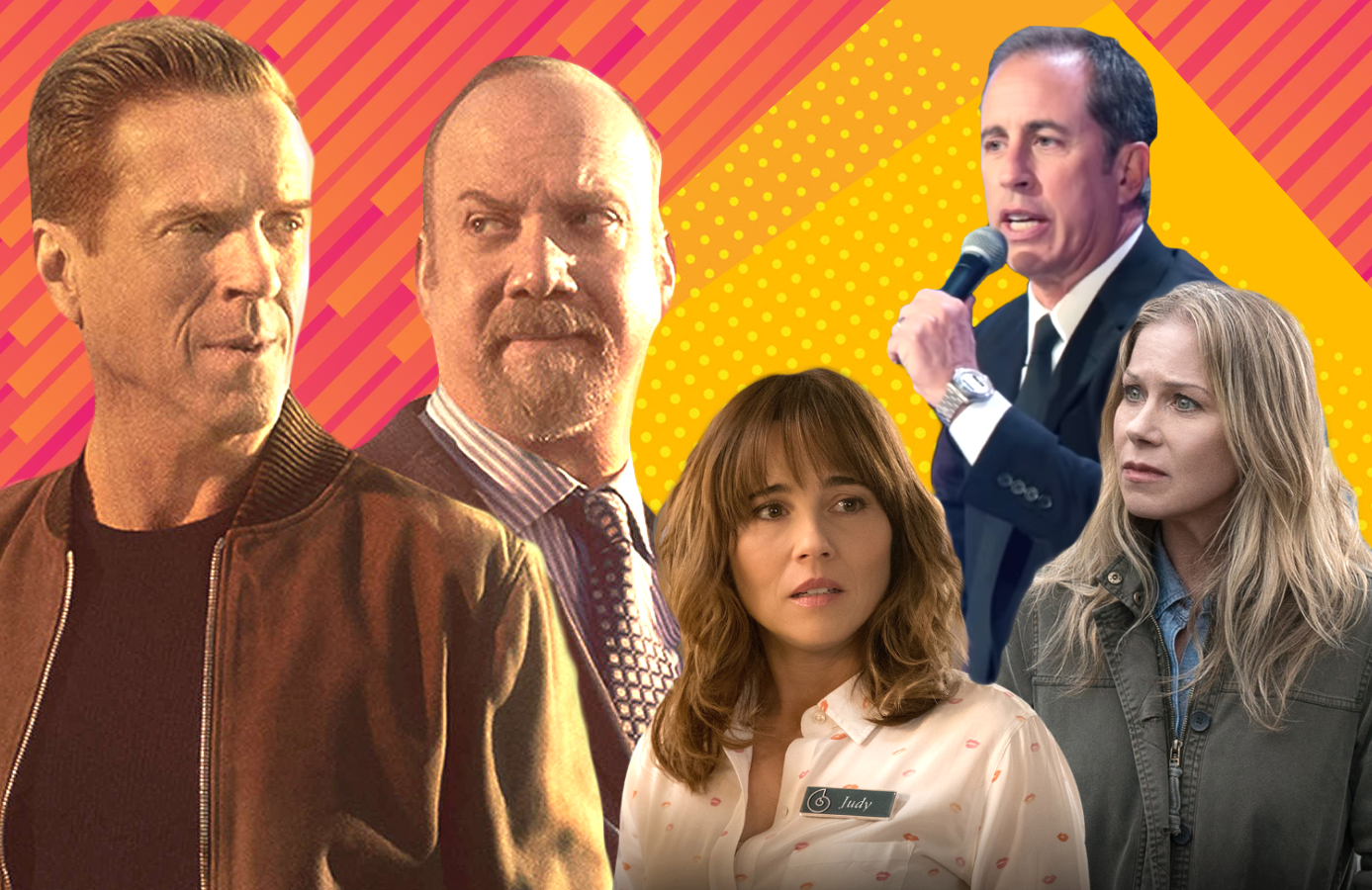 Billions, Dead to Me and Jerry Seinfeld: 23 Hours to Kill. (Photos: Showtime/Netflix)