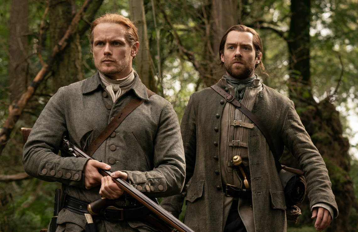 Sam Heughan and Richard Rankin in Outlander. (Photo: Starz)