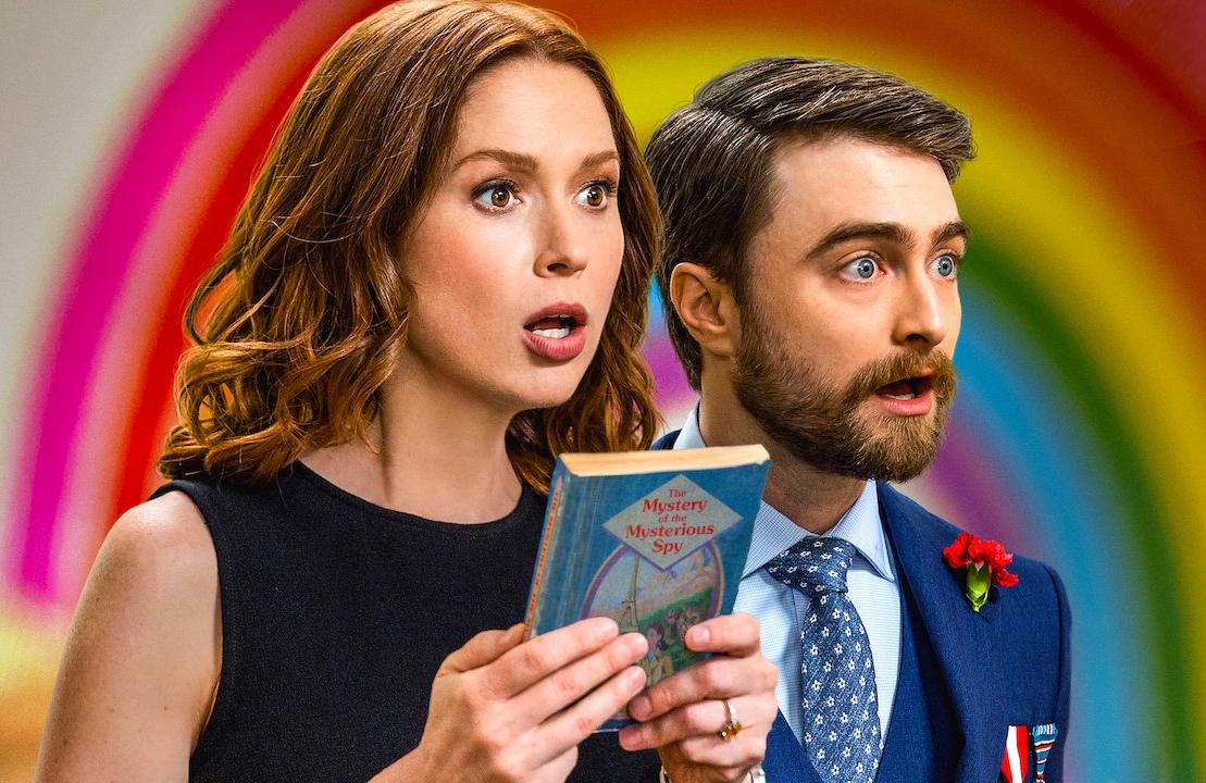 Ellie Kemper and Daniel Radcliffe in Unbreakable Kimmy Schmidt: Kimmy vs. The Reverend. (Netflix)