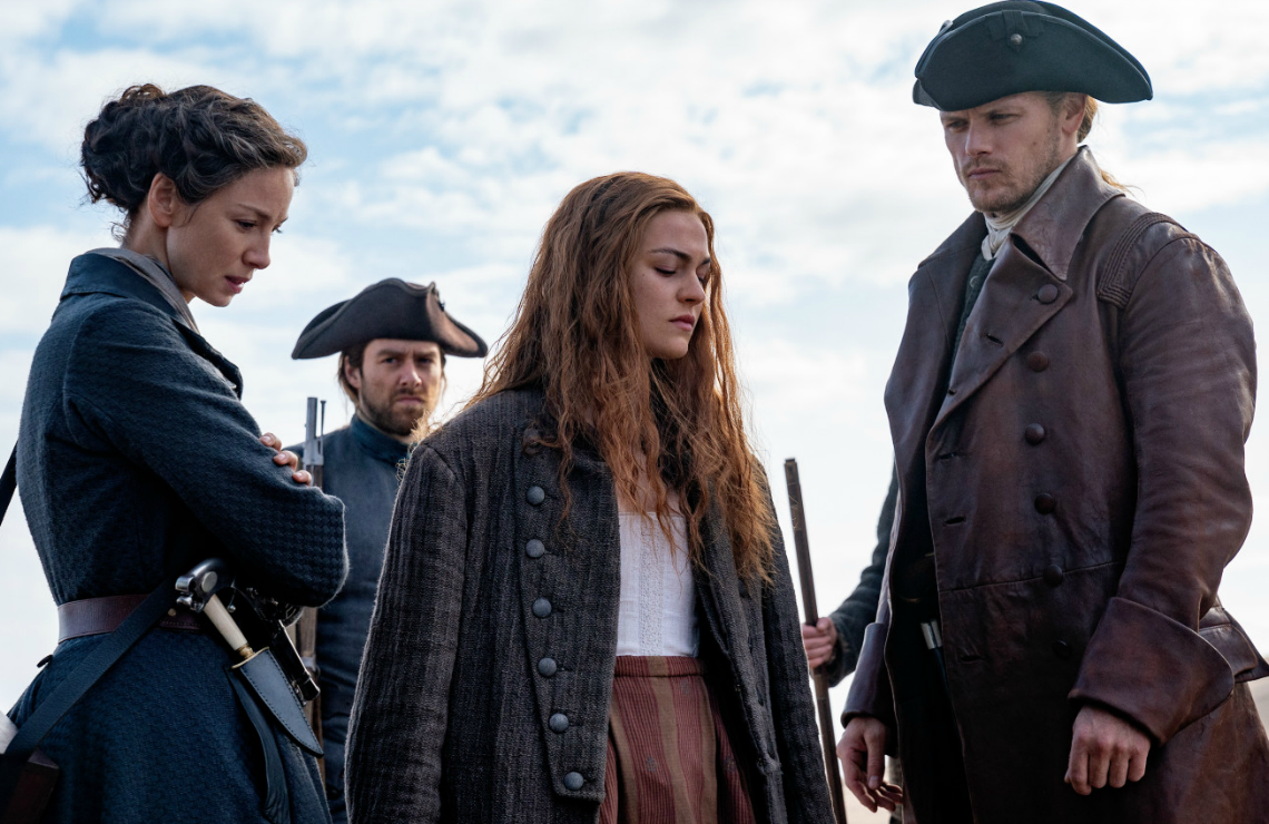 Caitriona Balfe, Richard Rankin, Sophie Skelton, and Sam Heughan in Outlander. (Photo: Starz)