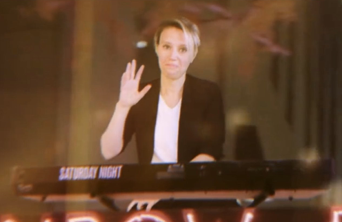 Is this goodbye? Kate McKinnon in last night's Saturday Night Live. (NBC)