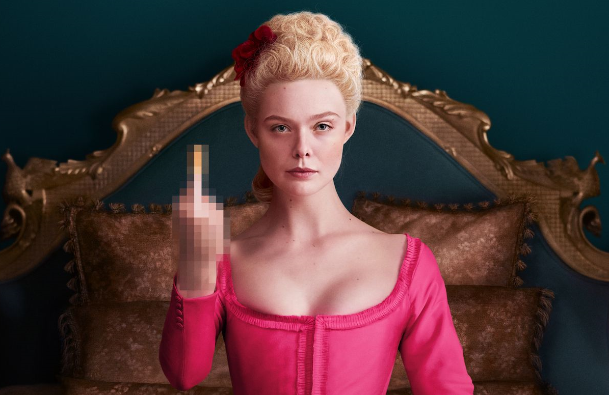 Elle Fanning stars in The Great. (Hulu)