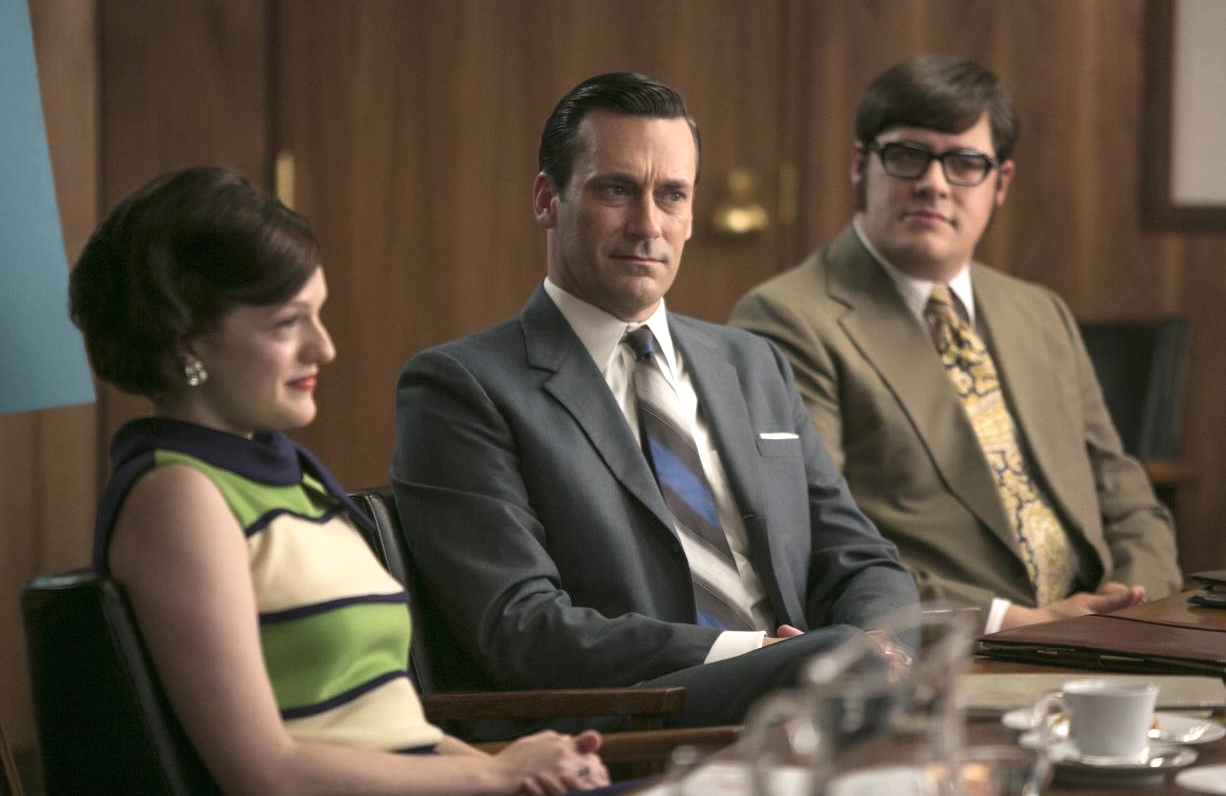 Elisabeth Moss, Rich Sommer and Jon Hamm in Mad Men. (AMC)