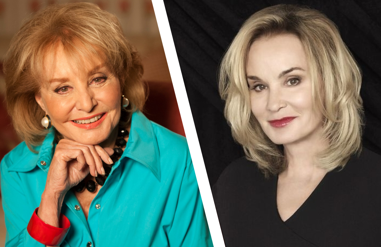 Barbara Walters, left; Jessica Lange, right. (Photos: ABC/FX)