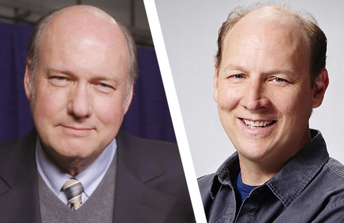 Bill Geddie, left; Dan Bakkedahl, right (Photos: ABC, CBS)