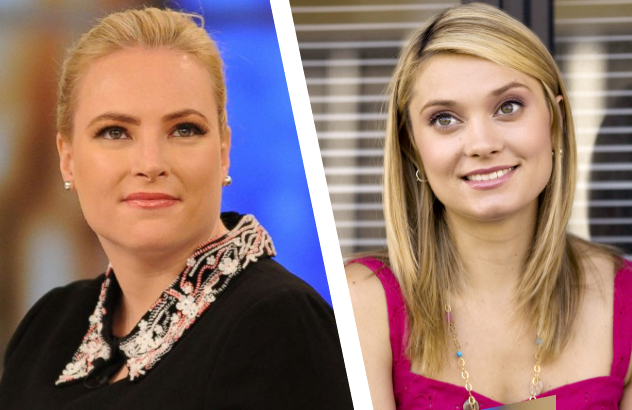 Meghan McCain, left; Spencer Grammer, right.