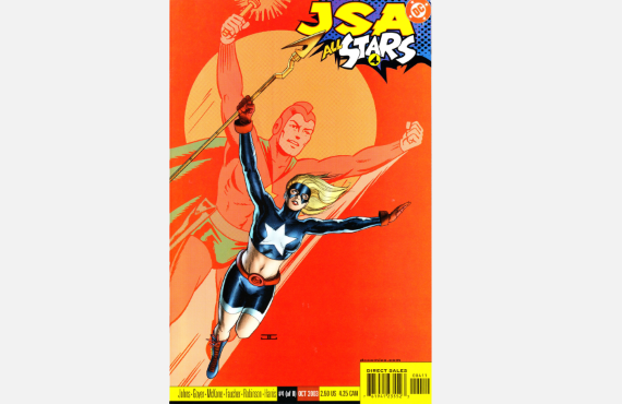 JSA All Stars 4 featuring Stargirl. Cover art by John Cassaday, Mark Lewis, and David Baron.