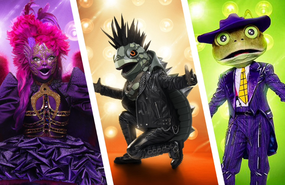 It all comes down to this: Night Angel, Turtle and Frog in The Masked Singer. (FOX)